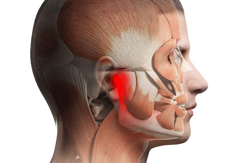 kattanás és fájdalom a temporomandibularis ízületben